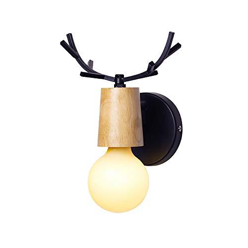 Dalun Vintage Wandleuchte, Geweih Rustikale Wandleuchte, Industriebeleuchtung Sockel, Indoor Home Retro Leuchten -