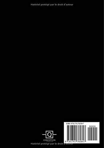 Agenda: Semainier - Petit Format A5 - J'nique Tout Noir Blanc - Calendrier Janvier à Décembre