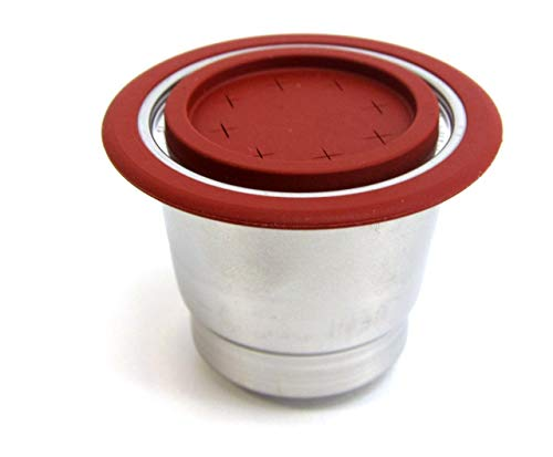 Mister Barista 508887 wiederbefüllbare Kaffeekapsel für alle Nespresso Maschinen, zwei Deckeln