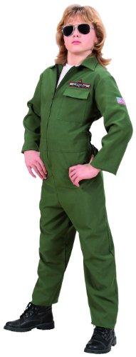 Widmann WDM73138 - Costume Per Bambini Pilota di Jet da Comb (158 cm/11-13 Anni ), Verde, S
