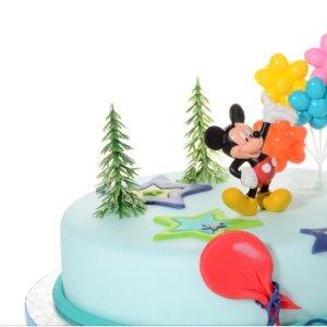 rtendeko Mickey Mouse 4 teiligTortenaufleger 1 Geburtstag Kindergeburtstag Kuchen Deko ()