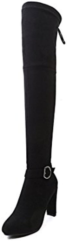 Sandalette-DEDE Zapatos de Mujer de tacón Alto de Moda, Rodilla Grande, Botas, Botas Gruesas de Rodilla y Rodilla...