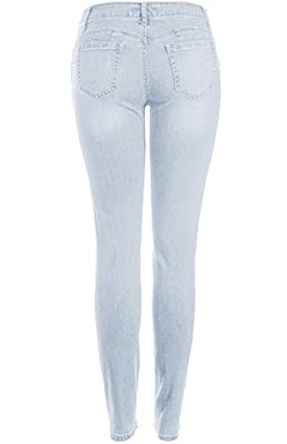 2LUV Women's Butt Lift Super Stretchy Cozy Knit Skinny Jeans