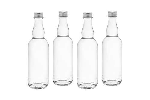 casa-vetro 6, 12, 20, 30Pieza Bormioli de TR de 100ML Botellas pequeñas de Botellas de Vidrio Botellas Licor Botellas Licor Botellas con Rosca, 0,1l, Vidrio, Blanco, 20 x 100 TR