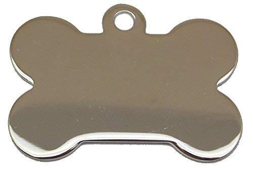 Adressanhänger mit Gravur - Knochen groß - Silber -