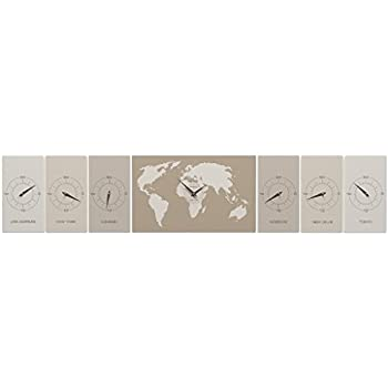 Karlsson Wall Clock Worldtime, Aluminium: BOX32 DESIGN