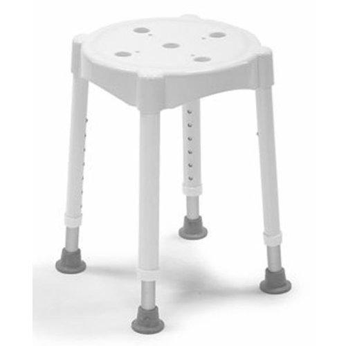 Dietz 4113 Duschhocker Redondo Sitzhöhe 7-fach verstellbar maximale Belastung, weiß -