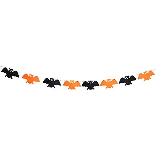 HJKGSVdv Halloween Party Spinne Schädel Ghost Bat Kürbis Girlande Muster Halloween Dekor Prop Bat