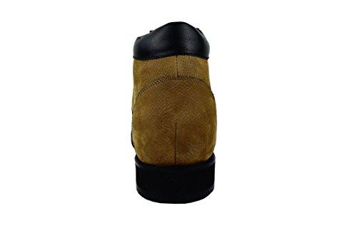 Zerimar Botte Rehaussantes Por Hommes Ajoutez + 9,5 CM à Votre Taille Fait de Cuir de Haute Qualité Marron