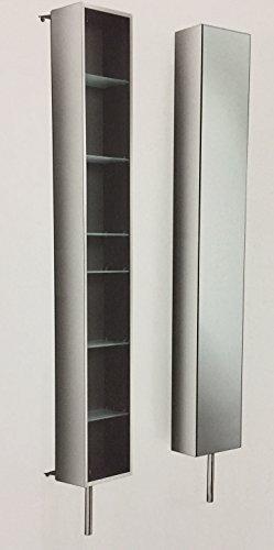 Lineabeta PIKA' Drehbarer Wandschrank aus Edelstahl mit Spiegel, Ausführung: Edelstahl, Tür: verspiegelt, 51506.29 -