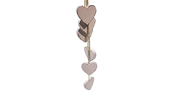 Herzhänger Holzherz Herz aus Holz zum hängen Fensterdekoration Shabby Look NEU