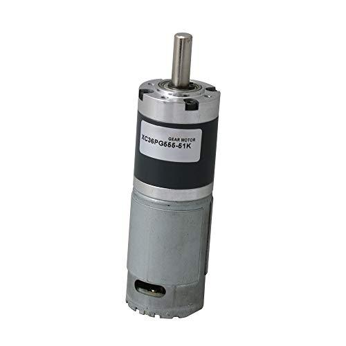 Yibuy Gleichstrom 24 V 50 U/min Hoch Drehmoment Planetengetriebe Motor Ausgangswelle 8 mm Durchmesser (Motor Min U / Hohe)