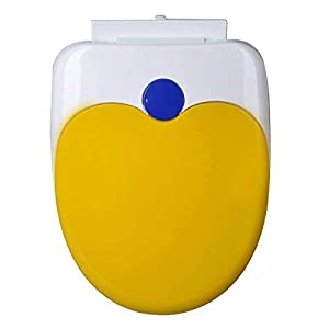 XYFL Asiento De Inodoro En Forma De U Junta De PP Antibacterial Más Lenta Fácil De Limpiar Espesar La Tapa del Inodoro…