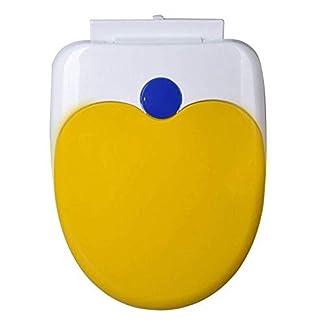 31Qj9zBzWUL. SS324  - XYFL Asiento De Inodoro En Forma De U Junta De PP Antibacterial Más Lenta Fácil De Limpiar Espesar La Tapa del Inodoro para Adultos Y Niños