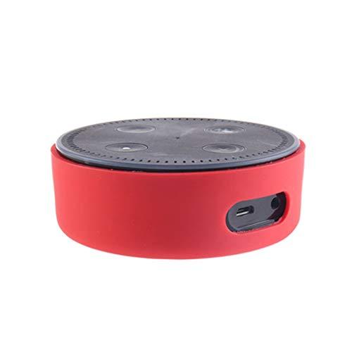 TAOtTAO Silikon ultradünne Schutzhülle für Amazon Echo Dot 2 Silikonhülle (H)