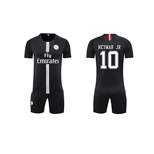 Basketball Kostüm Spieler Junge - FNBA Paris Neymar JR 10# Kinder/Jugend Heimtrikot und Shorts, Kostüm Sportbekleidung Herrenbekleidung-Black-XXL