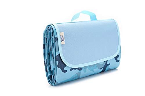 Picknickdecke - Zeltmatte, Matte, Nickerchenmatte Camouflage Blau 200 * 200 -