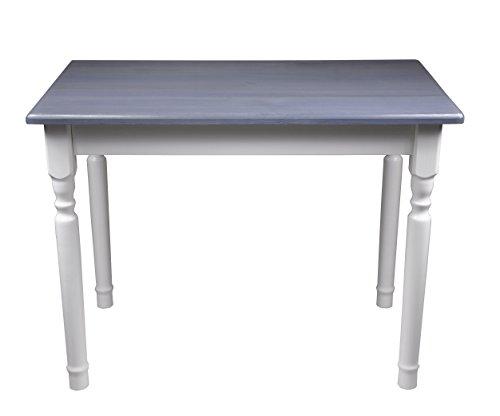 Esstisch Küchentisch Tisch Kiefer massiv Restaurant Honig/weiß 80 x 60 cm (80x60, Grau)
