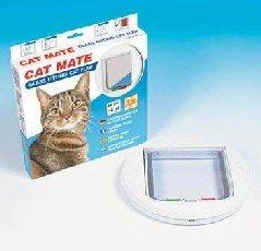Glas Fassung Katzenklappe - Weiß