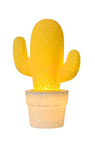 Lucide CACTUS - Lampe De Table - Ø 20 cm - Jaune