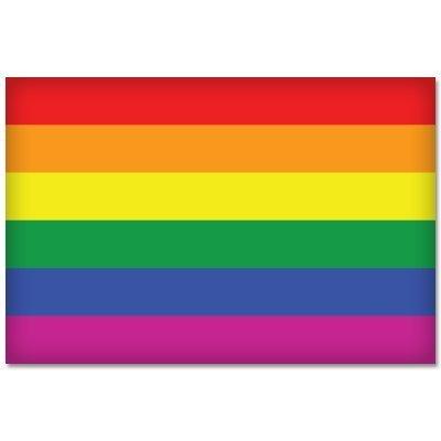 Preisvergleich Produktbild Aufkleber / Autoaufkleber / JDM Die Hart - GAY PRIDE Rainbow Flag Fahne Regenbogen 127mmx101mm
