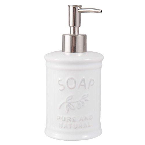 Seifenspender Lotionspender Pumpspender SOAP weiß Ø 8 x 18 cm Clayre & Eef 63857