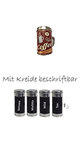 Kaffeepaddose 18 Pads - Neu beschriftbar mit Kreide 4er Set + 2018 Osteraktion mit...