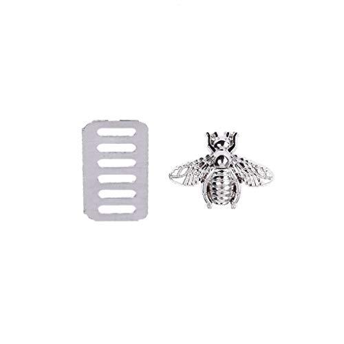 Biene Messenger (Exing Zubehör Für Taschen Nähen,Biene Metall Tasche Dekoration Für DIY Schultertasche Casual Tote Messenger Zubehör)