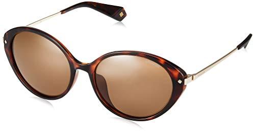 Polaroid Damen PLD 4077/F/S Sonnenbrille, Mehrfarbig (Dkhavana), 57