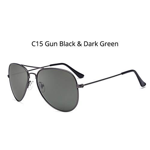 CCGSDJ Retro Metallrahmen Pilot Polarisierte Sonnenbrille Frauen Mens Aviation Sonnenbrille Blau Grau Objektiv Spiegel Silber Gold Shades