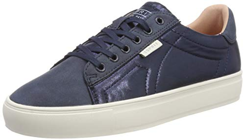 ESPRIT Damen Colette Shiny L Sneaker, Blau (Navy 400), 39 EU