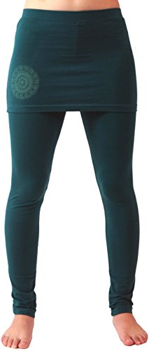 Guru-Shop Yoga-Hose Bio-BW Yogi, Damen, Emerald, Baumwolle, Size:M (38), Shorts, 3/4 Hosen, Leggings Alternative Bekleidung Bio-baumwolle-yoga-hosen