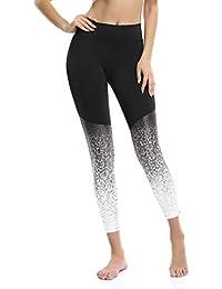 Le World Pantalones de Yoga Pilates para Mujer Cintura Alta, Leggings de Cintura Elástica Pantalones de chándal Pantalones de Capri Pantalones de Fitness Mallas Deportivos Ropa de Running