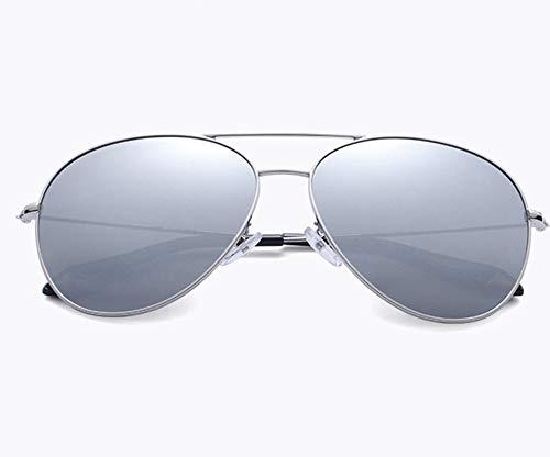 XUEP Sonnenbrillen Weibliche polarisierte Sonnenbrille Yurt Tide Bright Reflective Glasses Eye Chauffeur-gesteuerte Autosport-Sonnenbrille Driving Glasses Shades ( Color : Silver Frame Sheeting )
