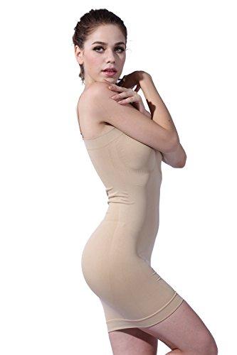 FranatoDamen Miederkleid, Einfarbig Nackt