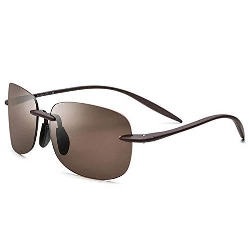 Sxuefang Sonnenbrillen Polarisierte Brille Radfahren Brille Randlose Männer Hohe Qualität Platz Rahmenlose Sonnenbrille für Frauen