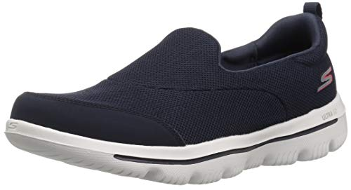 Skechers Damen Go Walk Evolution Ultra-Reach Slip On Sneaker, Blau, 39 EU (Skechers Schuhe Frauen Breite)