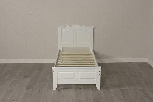 Mission TM Parma White Wooden Bed Frame (3FT Single Frame)