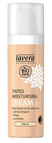 lavera Getönte Feuchtigkeitscreme 3in1 Foundation ∙ Moisturising Cream ∙ Natural & innovative Make up ✔ vegan ✔ Bio Pflanzenwirkstoffe ✔ Naturkosmetik ✔ Teint Kosmetik 1er Pack