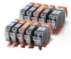 Premier Cartridges 10 Canon Compatible Cli526, Pgi525, Printing Ink Cartridges - New With Chip Installed No Fuss - Multipack Set Of 10 Canon Compatible Printer Ink Cartridges For Canon Pixma Ip4850, Ip4950, Mg5150, Mg5250, Mg5350,Mg6250, Mg6150, Mg6220, Mg8150, Mg8220, Mg8250, Mx715, Mx885, Ix6550 Printer Inks Pgi 525Bk, Cli 526Y, Cli 526M, Cli 526C, Cli 526Bk,) High Capacity