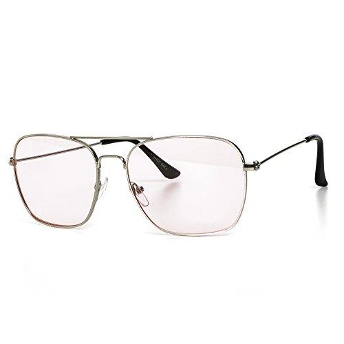 Sonnenbrille Damen oder Herren Unisex Pilotenbrille Motorradbrille Aviator-Style Retro Verspiegelt...