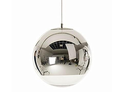 Glas Hängeleuchte Elektroplate Craft Gold / Silber E27 Birnenhalter 15mm 40mm Durchmesser Silver 40cm