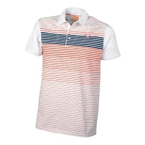 Puma Junior Golf Stripe Tech Polo, donna Uomo, Juniors White/red 30/32, White/Red, L