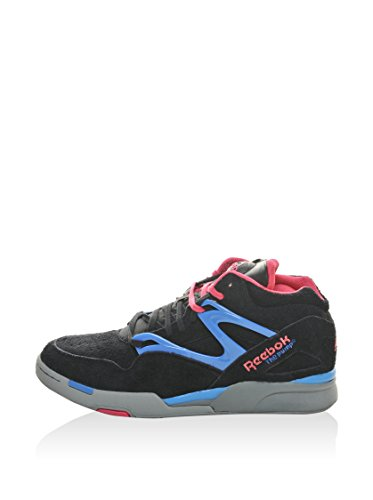 Reebok Pump Omni Lite, Baskets mode femme Black/Pink/Blue/Grey