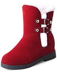 Btruely Herren Botas de Nieve Moda Invierno Zapatillas de Estar por Casa Mujer Interior Caliente Suave