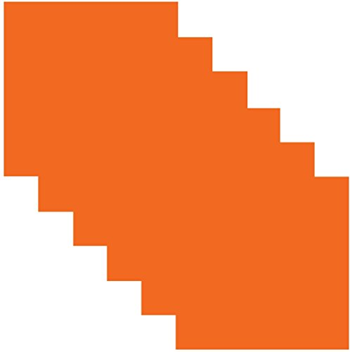 barer Selbstklebendes Vinyl Craft 30,5 x 30,5 cm Blatt 6 Sheets Orange Soda ()
