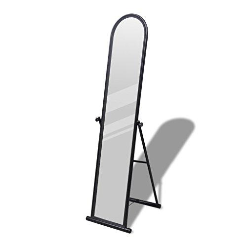 Espejo de Pie Cuerpo Entero Rectangular Negro