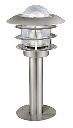 EGLO Aussen-Stehleuchte Modell Mouna / 1 H-400, edelstahl, klar 30182 E