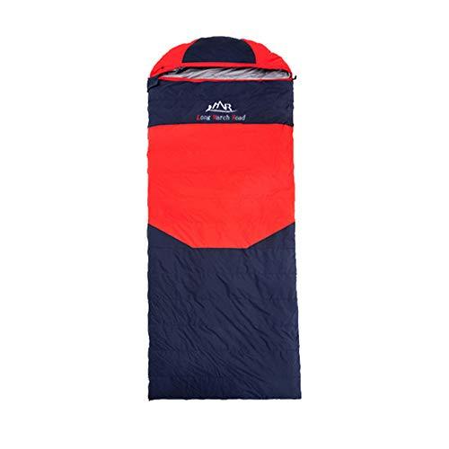Fgking sacco a pelo per adulti e bambini, realizzato in poliestere ripstop, busta singola 3 stagioni sacco a pelo da campeggio per un sonno confortevole e caldo,rosso,1500g