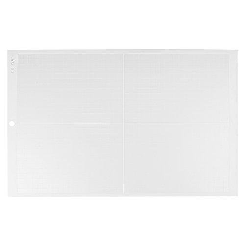 """Schneidematte,Selbstklebende Schneidplatte, A3 Schneidematte Vinyl Plotter Rutschfeste, Durable Selbst Healing Board für Vinyl Cutter Plotter 18""""× 12""""(White/Weak Stickness)"""